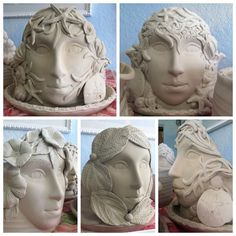Finally finished making 5 new goddess planters...now crossing my fingers they…