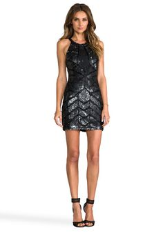 PARKER Sequined Aubrey Dress in Black - Gift Guide: Party Dresses