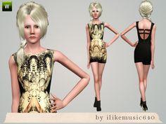 ILikeMusic640's Mirrored Pattern Dress AF