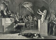 Scene of a witch in court