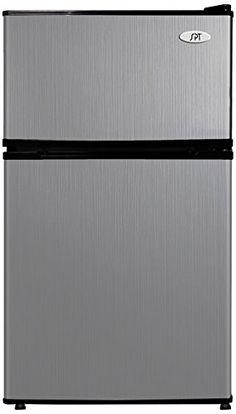 SPT RF-314SS Double Door Refrigerator, Stainless Steel, 3.1 Cubic Feet SPT http://smile.amazon.com/dp/B00KVRA6YW/ref=cm_sw_r_pi_dp_rq7-ub167097G