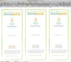 Neighborhood Block Party Invitation #freeprintable | Printables ...