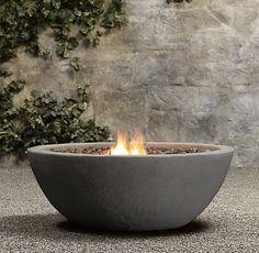Lava Rock Propane Fire Bowl