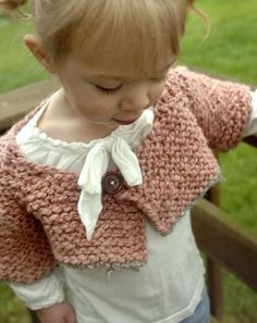 Free Knitting Pattern - Toddler & Children's Clothes: Redbud Blooms Shrug