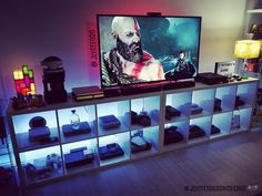 Cool awesome video game room ideas that will blow your mind Teen Game Rooms, Video Game Rooms, Video Games, Deco Gamer, Home Music, Geek Room, Geek Cave, Cave Game, Gaming Room Setup