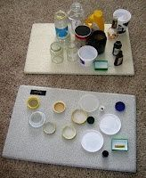 Functional matching activity to address visual perception. This is such a great idea for a center in a life skills class. Read more at: http://stillparenting.blogspot.com/2009/02/what-weve-been-up-to.html