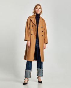 Discover the new ZARA collection online. Oversized Mantel, Oversized Coat, Polo Style, My Style, Casual Chic, School Run Style, Michael Kors, Work Attire, Fall Trends