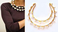 Unique two-row necklace by OlaPuchaczJewellery