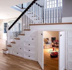 21 Ideas Basement Storage With Doors Under Stairs Understairs Storage basement Ideas Basement Storage With Doors Under Stairs Understairs Storage basement d.basement doors ideas stairs storage understairsSecret Rooms: 10 Special Spaces Hidden from Sight Staircase Storage, Stair Storage, Staircase Design, Toy Storage, Storage Ideas, Storage Design, Hidden Storage, Basement Storage, Grand Staircase