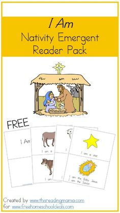 Free Nativity Emergent Reader Pack - from Free Homeschool Deals