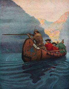 James Fenimore Cooper, The Last of the Mohicans, A narrative from illustrator Newell Convers Wyeth. Frederic Remington, American Illustration, Graphic Illustration, Native American Art, American Artists, Nc Wyeth, Historical Art, Traditional Paintings, Wildlife Art