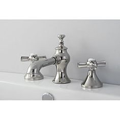 French Country Polished Nickel Widespread Bathroom Faucet - Overstock™ Shopping - Great Deals on Bathroom Faucets
