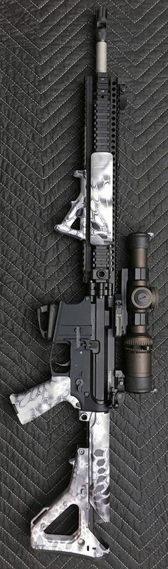 Wicked Cool Custom AR-15 Assault Rifle Firearm Gun Board @aegisgears