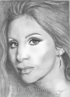 Barbra Streisand Original Drawing by mystikaz on Etsy Cool Pencil Drawings, Graphite Drawings, Celebrity Drawings, Celebrity Portraits, Artist Point, Barbra Streisand, Coloring Pages To Print, Weird Art, Australian Artists