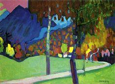 Кандинский. Осенний этюд у Оберау. 1908 год