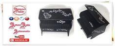 Peça organizadora - Piano organizador http://amocarte.blogspot.com.br/
