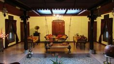 Traditional Style Homes, Traditional House Plans, Village House Design, Village Houses, Chettinad House, Court Yard, Kerala Houses, Indian Homes, House Interiors