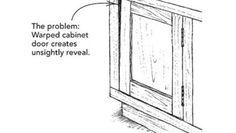 Fixing warped doors