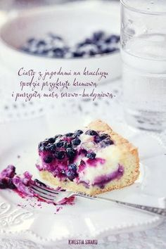 cakes with blueberry & cream cheese Yummy Treats, Delicious Desserts, Sweet Treats, Polish Recipes, Polish Food, Sweet Pie, Best Dishes, Desert Recipes, Cheesecake Recipes