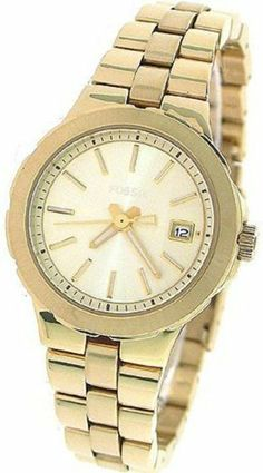 Fossil Sylvia 3-Hand with Date Women's watch #AM4408 Fossil. $80.51. Brand:Fossil. Dial color: gold. Condition:brand new with tags. Model: AM4408. Band color: gold. Save 30%!