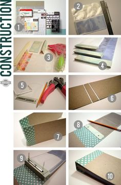 Great tutorial from Kinsey on making a DIY mini scrapbook album to save Instragram photos in.