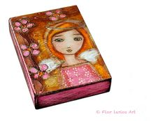 Be Kind  ACEO Giclee print mounted on Wood 25 x 35 by FlorLarios, $10.00