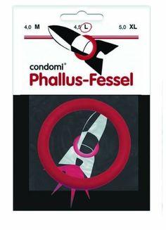 Condomi Phallus Fessel Penisring 4.5 cm rot