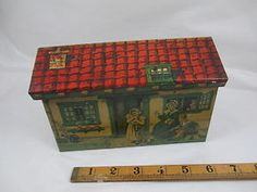 Children-Image-House-Shaped-Biscuit-Tin-c1920s