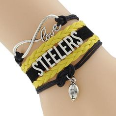 Pittsburgh Steelers Football Custom Sports Bracelet Charm - Shipped from U. -- Awesome products selected by Anna Churchill Pittsburgh Steelers Football, Love Bracelets, Charmed, Personalized Items, Amazon, Trending Outfits, Unique Jewelry, Sports, Churchill