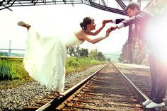 wedding photography photos ideas by railroad - Google Search