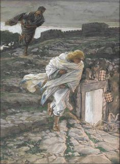 Saint Peter and Saint John Run to the Sepulchre - Watching Holy Week Unfold with paintings by James Tissot