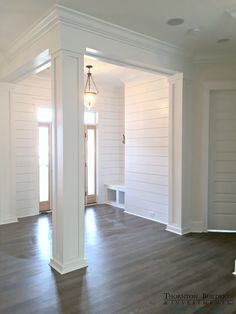 Wohnen Modern Farmhouse foyer Should the Dad Attend the Birth of His Baby? Farmhouse Trim, Farmhouse Style, Farmhouse Decor, Farmhouse Design, Farmhouse Ideas, Farmhouse Addition, Modern Farmhouse Interiors, White Farmhouse, Farmhouse Lighting