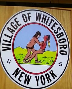 Eyebrow raised. Huh??? NY mayor said this represents how the pilgrims gained respect from the native Indians. They called it wrestling. Looks like choking to me. This is the chosen logo of Whites boro.