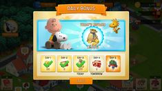 Daily rewards - Snoopy's Town