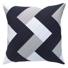 The FRANZ MAYER modern quilted pillow from CLOTHLAB fits perfectly with the MONOCHROME trend.