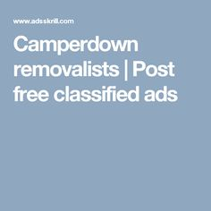 Camperdown removalists | Post free classified ads
