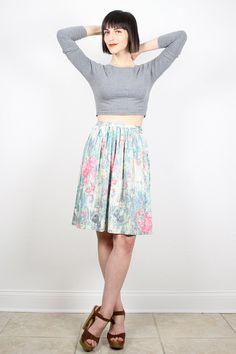 Vintage 70s Skirt Midi Skirt Knee Length by ShopTwitchVintage #vintage #etsy #70s #1970s #hippie #skirt #midi #skater #spring