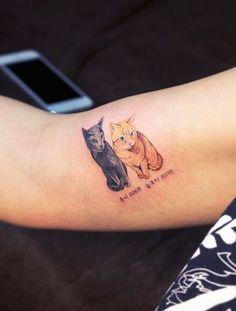50 Ideias de tatuagem para amantes de gatos - Tatuagem de gato -