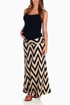 Maternity Maxi Skirt. For your hospital stay, you can easily lift up the skirt for nurse/Dr. exams.  Plus nursing tank.