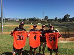 Jimmy Jensen, Max MacNabb and Caleb Fenimore - MacArthur Sydney Australia. Baseball Players, Sydney Australia, Sports, Hs Sports, Sport