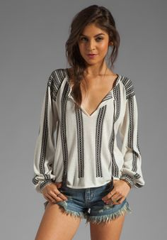 Torn by Ronny Kobo Madeleine Knit Top in Black  $238.00 sellout soon.. FAVORITE!