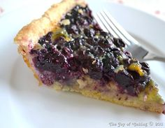blueberry custard from thejoyofcaking