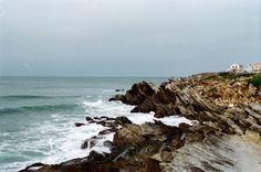 Jagged shore in Peniche, Portugal