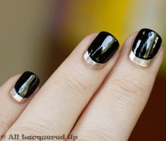 """Art DEco style,Y CRESCENT MOON / """"Brian Wolk and Claude Morais, the designers behind Ruffian, have declared the """"moon manicure"""" their signature nail. After two seasons of incorporating the moon mani into their runway look, the nail world went nuts for the crescent moon inspired design from their Fall '10 show."""""""