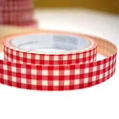 Fabric deco Tape - Red Check