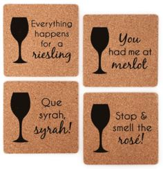 Wine Pun Coasters                                                                                                                                                                                 More