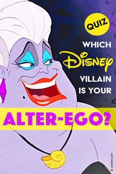Do you love everything Disney? Take this fun Disney personality quiz and find out which Disney villain is your alter-ego! #disney #disneyquiz #disneyvillain #ursula #maleficent #disneypersonalityQuiz #alterego #Disneyalterego #whoareyou