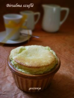 Gesztenye receptjei: Birsalma szuflé Pudding, Desserts, Food, Tailgate Desserts, Deserts, Custard Pudding, Essen, Puddings, Postres
