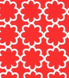Quilter's Showcase™ Cotton Fabric-Flower Red/White