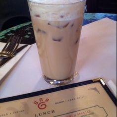 A very welcome iced latte in Bar 6.
